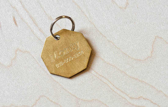 Shapermade Brass Dog Tag