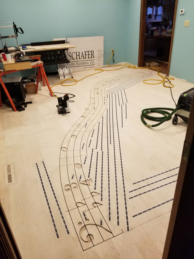 Shaper Tools | Origin on the job site: Large Scale Floor Inlay